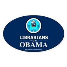 Librarians for Obama Oval Decal