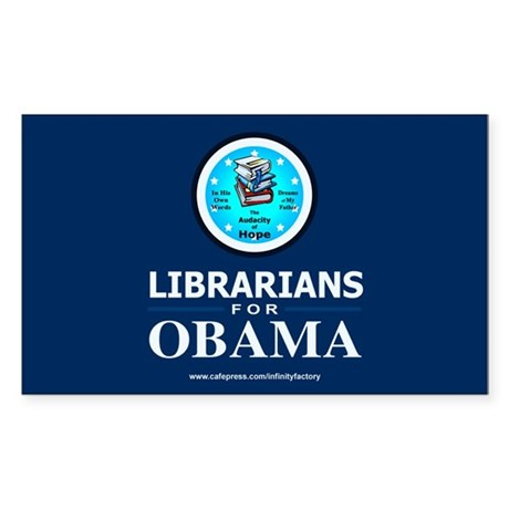 Librarians for Obama Rectangle Sticker