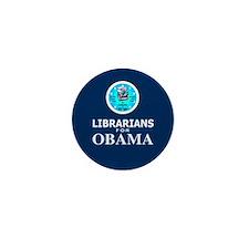 Librarians for Obama Mini Button