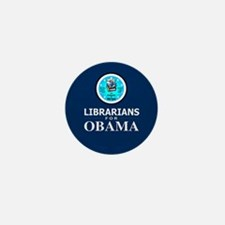 Librarians for Obama Mini Button
