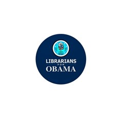 Librarians for Obama Mini Button (100 pack)