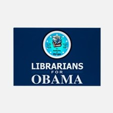 Librarians for Obama Rectangle Magnet