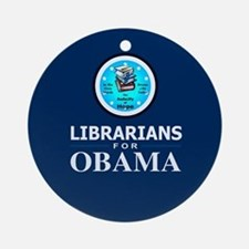 Librarians for Obama Ornament (Round)