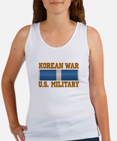 Korean War Service Ribbon Women's Tank Top