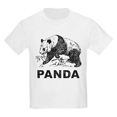 Vintage Panda Kids Light T-Shirt