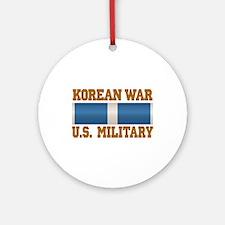 Korean War Service Ribbon Ornament (Round)