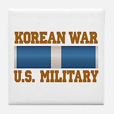 Korean War Service Ribbon Tile Coaster