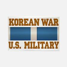 Korean War Service Ribbon Rectangle Magnet