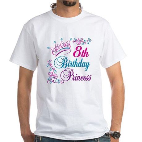 8th Birthday White T-Shirt