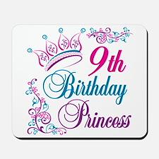 9th Birthday Princess Mousepad