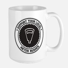 Support Meter Reader Large Mug