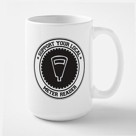 Support Meter Reader Large Mug