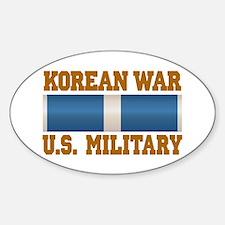 Korean War Service Ribbon Sticker (Oval)