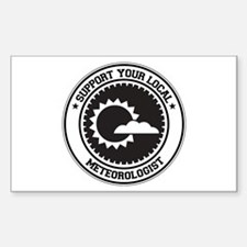 Support Meteorologist Rectangle Sticker 10 pk)