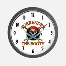 Surrender the Booty Wall Clock
