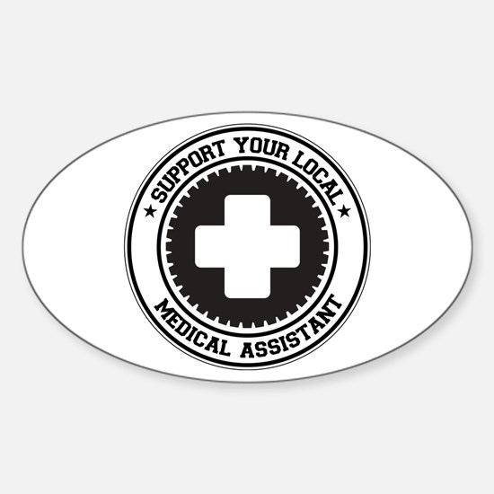Support Medical Assistant Oval Decal