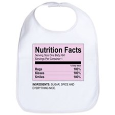 Nutrition Facts / Girl  - Bib
