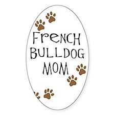 French Bulldog Mom Oval Decal