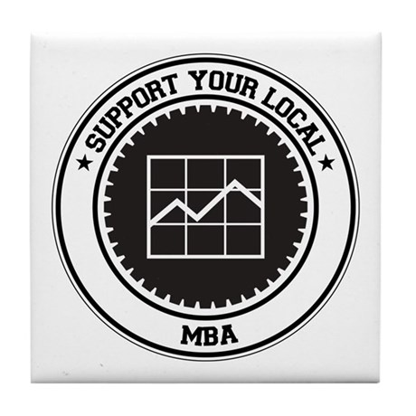 Support MBA Tile Coaster