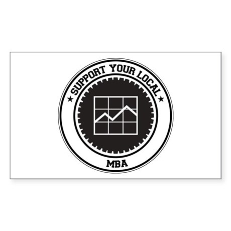Support MBA Rectangle Sticker
