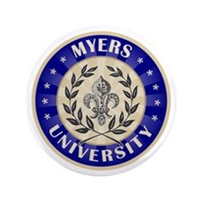 "Myers Last Name University 3.5"" Button"