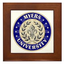 Myers Last Name University Framed Tile