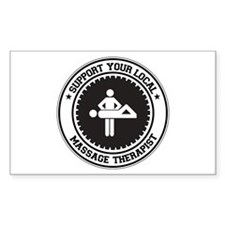 Support Massage Therapist Rectangle Decal