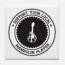 Support Mandolin Player Tile Coaster