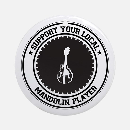 Support Mandolin Player Ornament (Round)