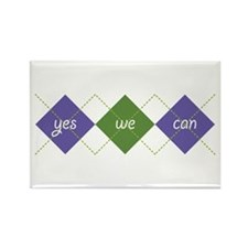 Yes We Can ARGYLE Rectangle Magnet