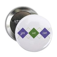 "Yes We Can ARGYLE 2.25"" Button"