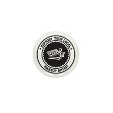 Support Makeup Artist Mini Button