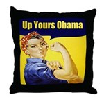 Up Yours Obama Throw Pillow