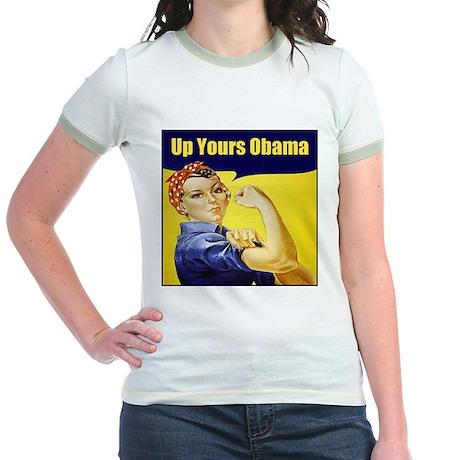Up Yours Obama Jr. Ringer T-Shirt