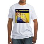 Up Yours Obama Fitted T-Shirt