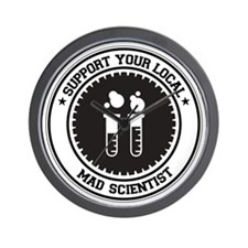 Support Mad Scientist Wall Clock