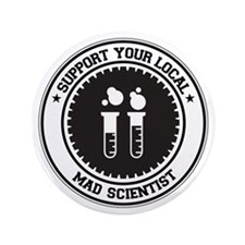 "Support Mad Scientist 3.5"" Button"