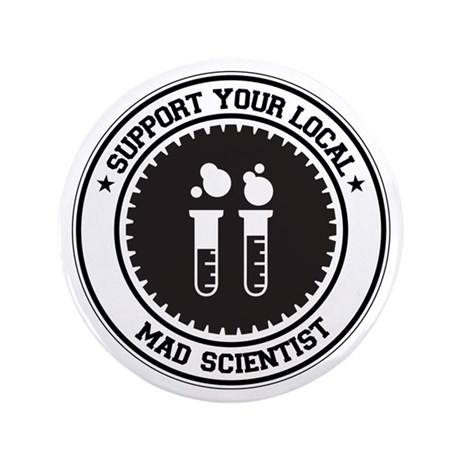"Support Mad Scientist 3.5"" Button"