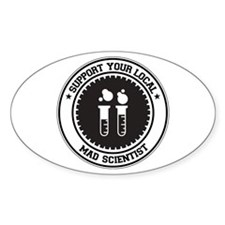 Support Mad Scientist Oval Decal