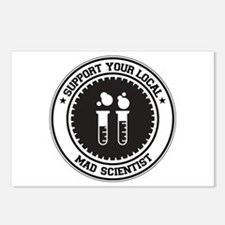 Support Mad Scientist Postcards (Package of 8)