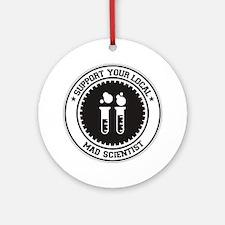 Support Mad Scientist Ornament (Round)