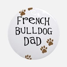 French Bulldog Dad Ornament (Round)