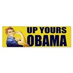 Up Yours Obama Bumper Sticker (10 pk)