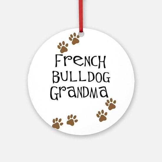 French Bulldog Grandma Ornament (Round)