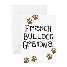 French Bulldog Grandma Greeting Card