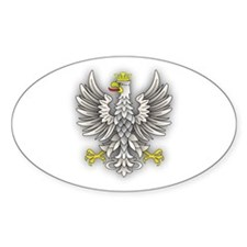 White Eagle Shadow Oval Decal