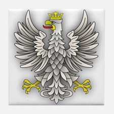 White Eagle Shadow Tile Coaster