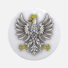 White Eagle Shadow Ornament (Round)