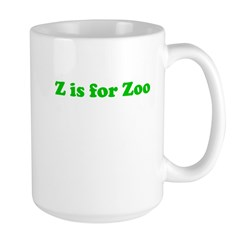 Z is for Zoo Large Mug