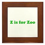 Z is for Zoo Framed Tile